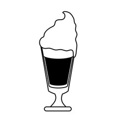 Coffee beverage with whipped cream icon imag vector
