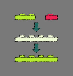 Flat shading style icon lego constructor vector