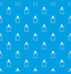 Bottle of female perfume pattern seamless blue vector