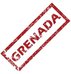 New grenada rubber stamp vector