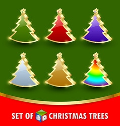 Simple christmas trees vector