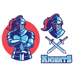 Knight armor mascot vector