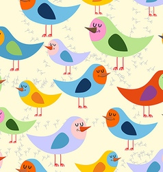 Birds seamless pattern background of lovely vector