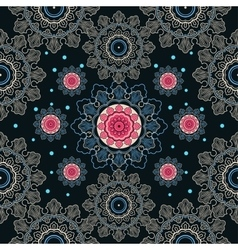 Colorful seamless paisley lace background vector