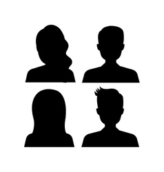 Young people avatar silhouette vector image
