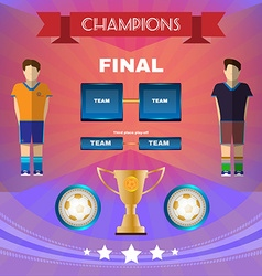 Soccer game champions final scoreboard vector