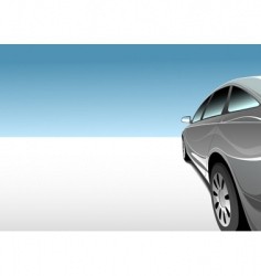 car in desert vector image