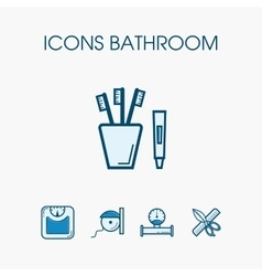 Icons bathroom set vector