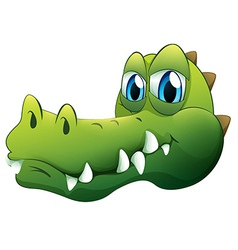 A head of a crocodile vector image