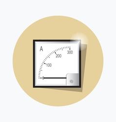 Ampermeter flat icon vector