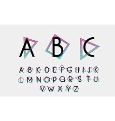 Black alphabetic font vector image
