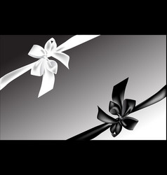 Black and white bow vector