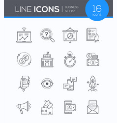 Business concepts - set of line design style icons vector