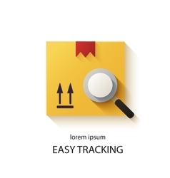 Cargo tracking logotype vector