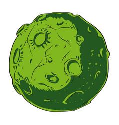 Cartoon image of alien planet vector