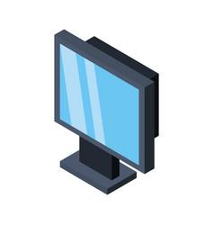 Computer screen 3d vector