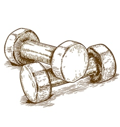 Engraving dumbbell vector