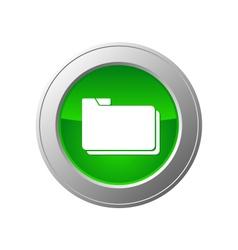 folder button vector image vector image
