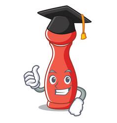 Graduation pepper mill character cartoon vector
