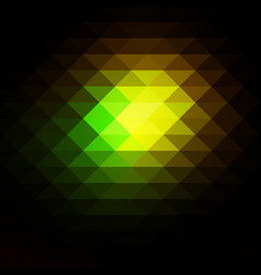 Green brown yellow black rows of triangles vector
