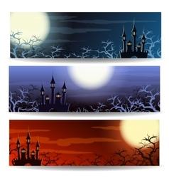 Halloween Banner Set vector image vector image
