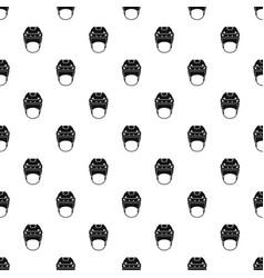 Hockey helmet pattern vector
