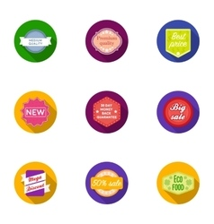 Label set icons in flat style Big collection of vector image vector image