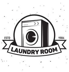 laundry logo emblem design element vector image vector image