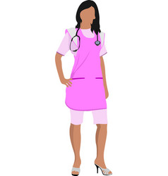 medical nurse with stethoscope vector image vector image