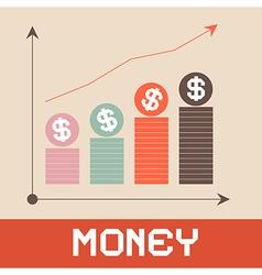 Money graph paper retro vector