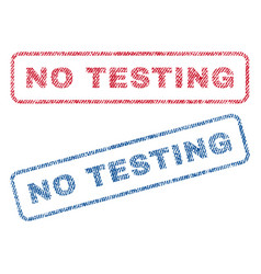 no testing textile stamps vector image vector image