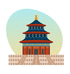 Palace complex chinese emperors is imperial palace vector