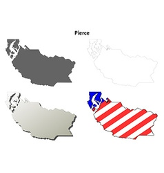 Pierce map icon set vector