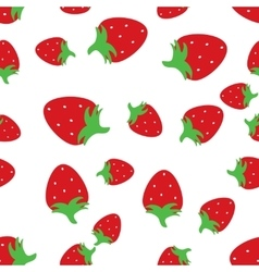 Seamless pattern background with red strawberries vector image
