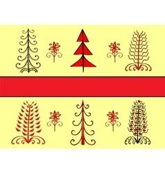 Set christmas tree ornament ethnic vector