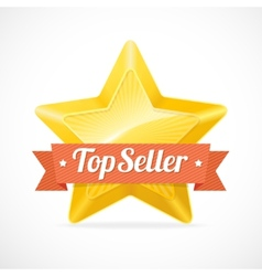 Top Seller star label vector image vector image