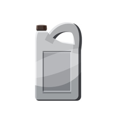 Plastic canister icon in cartoon style vector