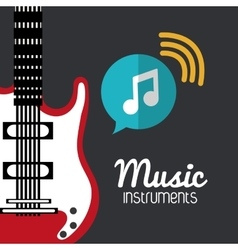 Guitar music sound instrument vector