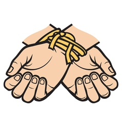 hands tied vector image