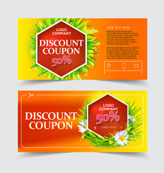 Red discount coupon vector