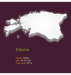 3d map of estonia vector