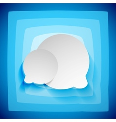 Speech bubble creative abstract background vector image