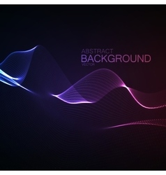 3D illuminated neon digital wave vector image vector image