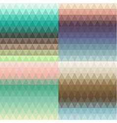 Set of seamless triangle backgrounds vector
