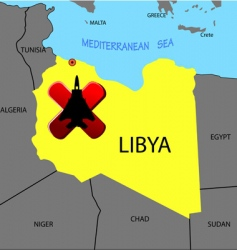 Prohibition of flights over libya vector