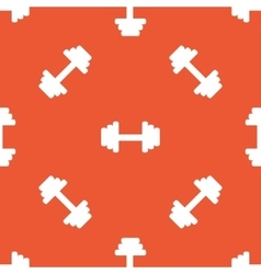 Orange barbell pattern vector