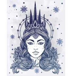 Fantasy snow queen vector
