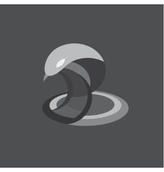 Cobra snake reptile flat on vector