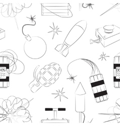 Set of bombs explosives pattern vector