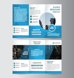 business trifold business Leaflet Brochure set vector image